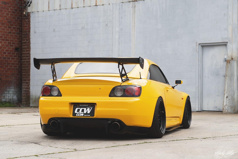 Yellow S2000 White Wheels